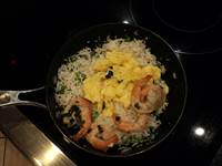 Cooking Shrimp Fried Rice